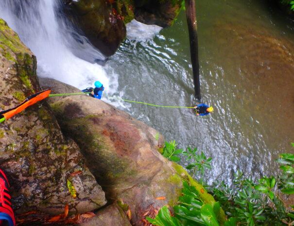 Azores canyoning rapel 2