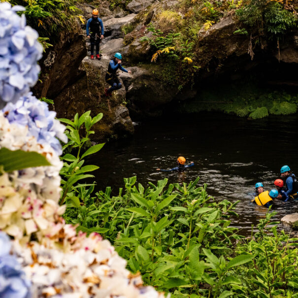 Azores, Canyoning, Salto